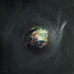 Boule magnétique 5, huile sur bois, 30 x 30 cm, 2003