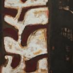 Colonne vertébrale 2, huile sur bois, 160 x 120 cm, 1996