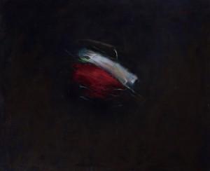 Elément Rouge - Blanc, huile sur bois, 100 x 120 cm, 2012