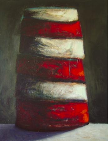 Elément T3, huile sur bois, 160 x 120 cm, 2000