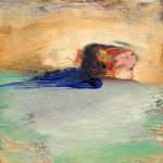 Elément, huile sur bois, 10 x 10 cm, 1999