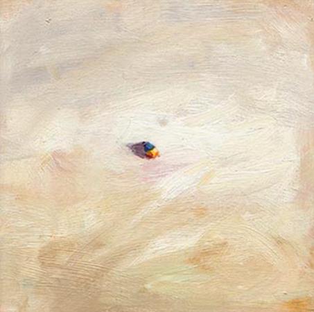 Elément - vue aérienne, huile sur bois, 11 x 11 cm, 1999