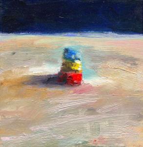 Elément - zoom 2, huile sur bois, 11 x 11 cm, 1999