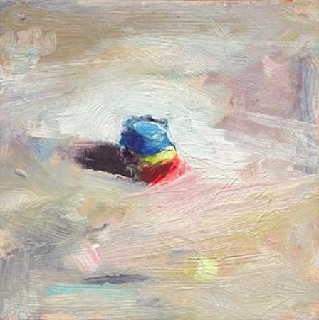 Elément - zoom 1, huile sur bois, 11 x 11 cm, 1999