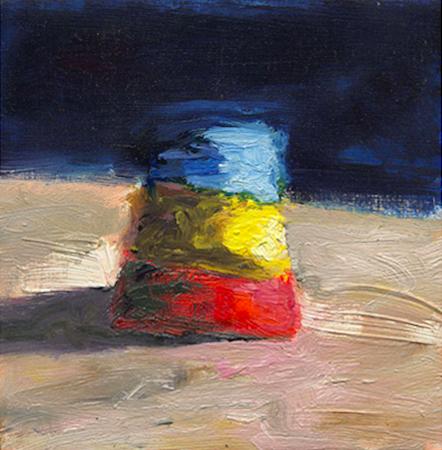 Elément - zoom 3, huile sur bois, 11 x 11 cm, 1999
