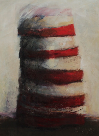 Empilement, huile sur bois, 120 x 100 cm, 2001