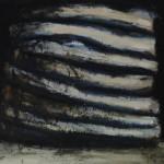 Empilement, huile sur bois, 69 x 74 cm, 1996