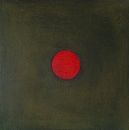 Empreinte 1, huile sur bois, 30 x 30 cm, 2010