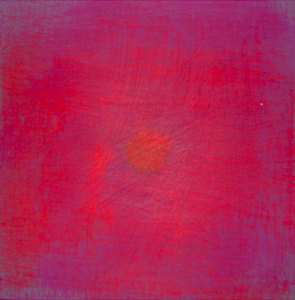 Etincelle 12, huile et cire sur bois, 13 x 13 cm, 2006