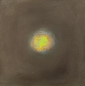 Etincelle 2, huile et cire sur bois, 13 x 13 cm, 2006