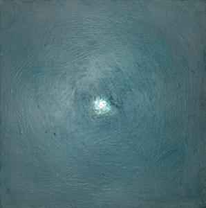 Etincelle 8, huile et cire sur bois, 13 x 13 cm, 2006