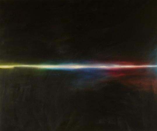 Flux 1, huile sur bois, 100 x 120 cm, 2008
