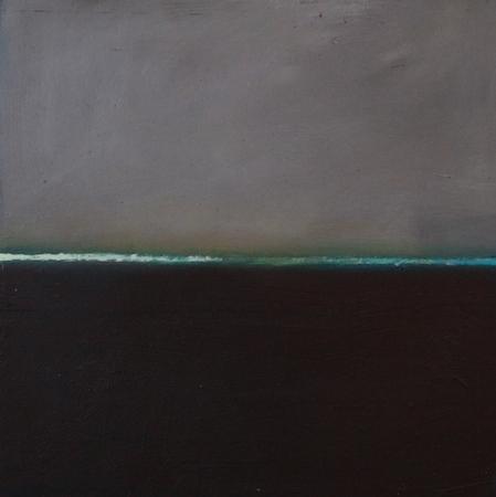Flux 6, huile sur bois, 30 x 30 cm, 2010