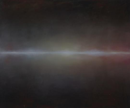 Flux, huile sur bois, 100 x 120 cm, 2008