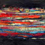 Flux, huile sur bois, 11 x 11 cm, 2001
