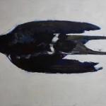 Hirondelle, huile sur bois, 120 x 160 cm, 2013