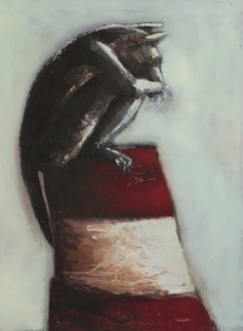 Le Guetteur, huile sur bois, 120 x 100 cm, 1998