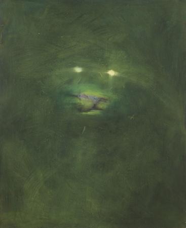 Lion vert 2, huile sur bois, 120 x 100 cm, 2011