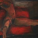 Nu 2, huile sur toile, 90 x 130 cm, 1987