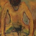 Nu jaune, huile sur toile, 130 x 90 cm, 1987