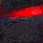 Objet céleste 1, huile sur bois, 11 x 11 cm, 1999