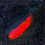 Objet céleste 2, huile sur bois, 11 x 11 cm, 1999