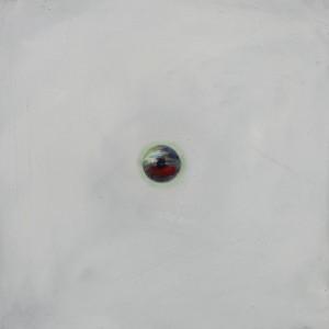 Oeil / Blanc, huile sur bois, 30 x 30 cm, 2010
