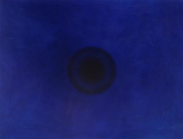 Oeil : Bleu, huile sur bois, 120 x 160 cm, 2009