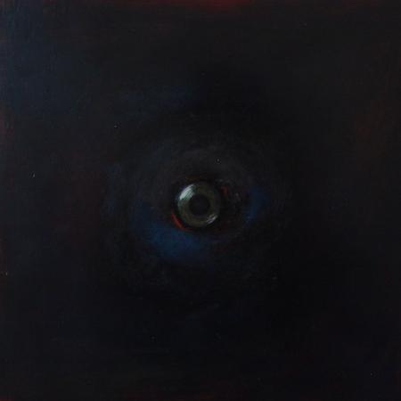 Oeil / Noir, huile sur bois, 30 x 30 cm, 2011