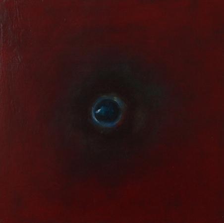 Oeil / Rouge 1, huile sur bois, 30 x 30 cm, 2010