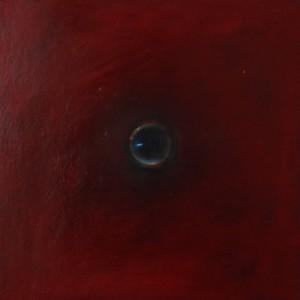 Oeil / Rouge 2, huile sur bois, 30 x 30 cm, 2010