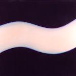 Onde blanche, huile sur bois, 100 x 120 cm, 2005