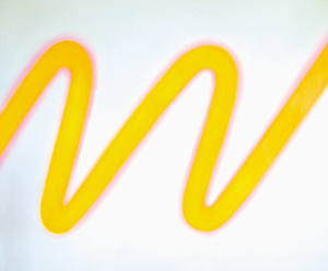 Onde jaune, huile sur bois, 90 x 110 cm, 2005