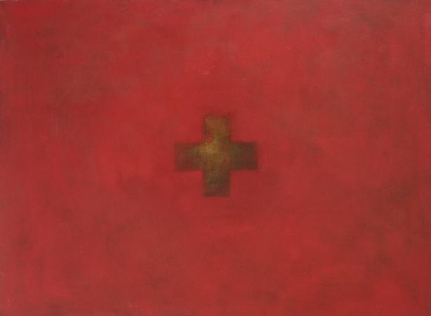 Ortie, huile sur bois, 90 x 120 cm, 2013
