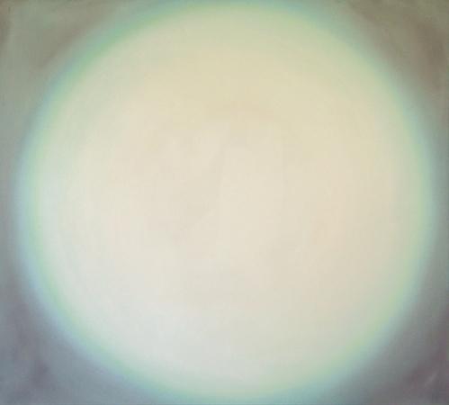 Ouverture blanche, huile sur bois, 100 x 110 cm, 2003