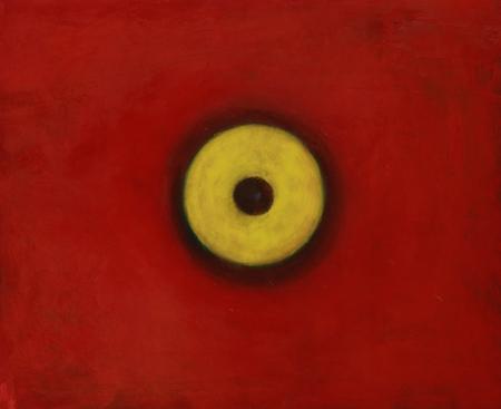 Phoenix : oeil 1, huile sur bois, 100 x 120 cm, 2014