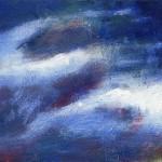 Pictsatellite 11, huile sur carton, 13 x 16 cm, 2004