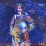 Pictsatellite 13 (bonjour mon ami), huile sur carton, 13 x 16 cm, 2006