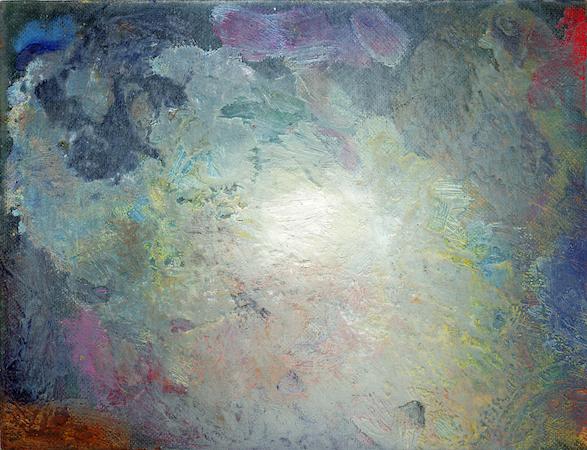 Pictsatellite 14, huile sur carton, 13 x 16 cm, 2007