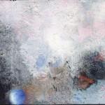 Pictsatellite 15, huile sur carton, 13 x 16 cm, 2004