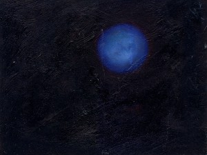 Pictsatellite 16, huile sur carton, 13 x 16 cm, 2005