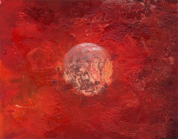 Pictsatellite 20, huile sur carton, 13 x 16 cm, 2007