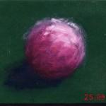 Pictsatellite 25, huile sur carton, 13 x 16 cm, 2007