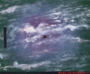Pictsatellite 26, huile sur carton, 13 x 16 cm, 2007