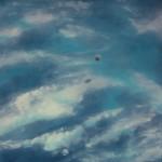 Pictsatellite 29, huile sur bois, 90 x 100 cm, 2004
