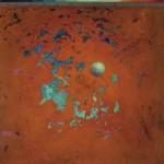 Pictsatellite 30, huile sur bois, 30 x 30 cm, 2004