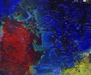 Pictsatellite 35, huile sur carton, 13 x 16 cm, 2013
