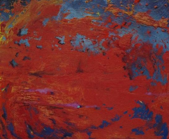 Pictsatellite 41, huile sur carton, 13 x 16 cm, 2013