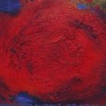 Pictsatellite 42, huile sur carton, 13 x 16 cm, 2013