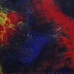 Pictsatellite 48, huile sur carton, 13 x 16 cm, 2013